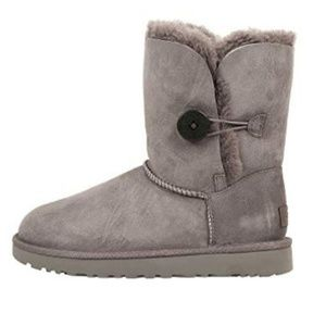 Ugg bailey button ll grey boots sz 8